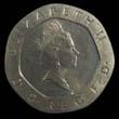 Elizabeth II Decimal 20p 1989 Obverse