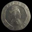 Elizabeth II Decimal 20p 1990 Obverse