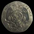 Elizabeth II Decimal 20p 1990 Reverse