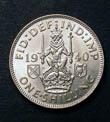 George VI Shilling 1940 Reverse