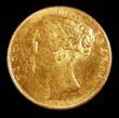 Victoria Gold Sovereign 1847 Obverse