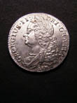 George II Shilling 1745 Obverse