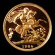 Elizabeth II Gold Sovereign 1984 Reverse