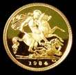 Elizabeth II Gold ½ Sovereign 1984 Reverse