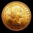 Elizabeth II Gold Sovereign 1959 Obverse