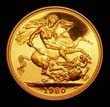 Elizabeth II Gold Sovereign 1980 Reverse