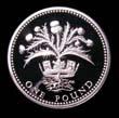 Elizabeth II Decimal £1 1984 Reverse