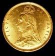 Victoria Gold ½ Sovereign 1887 Obverse