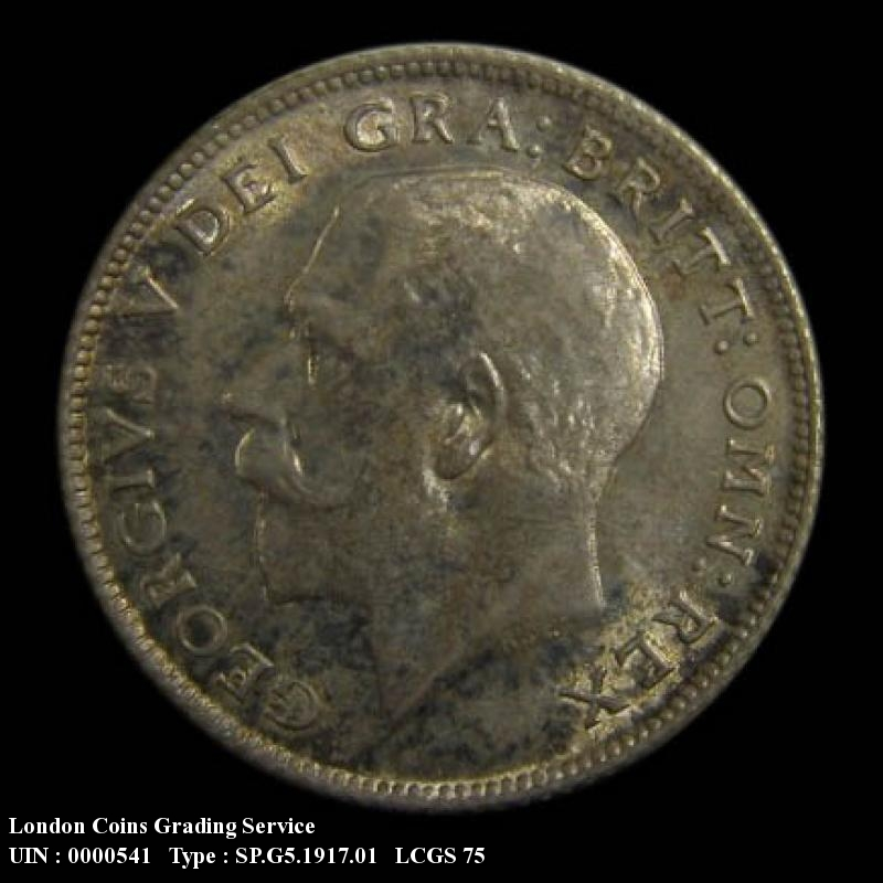 Sixpence 1917 George V. Standard type - Obverse