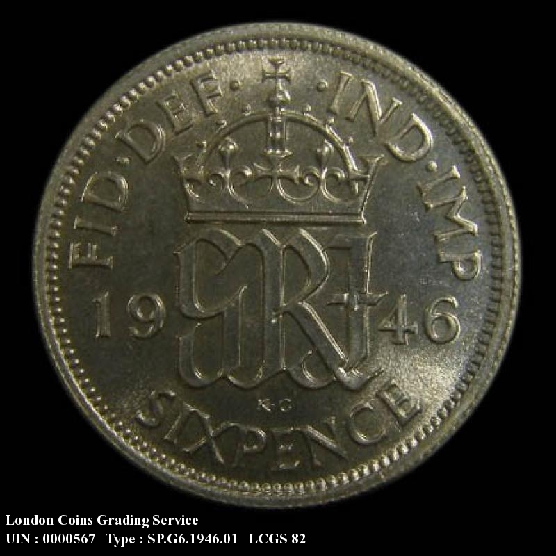 Sixpence 1946 George VI. Standard type - Reverse