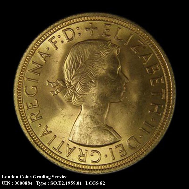Gold Sovereign 1959 Elizabeth II. Standard type - Obverse