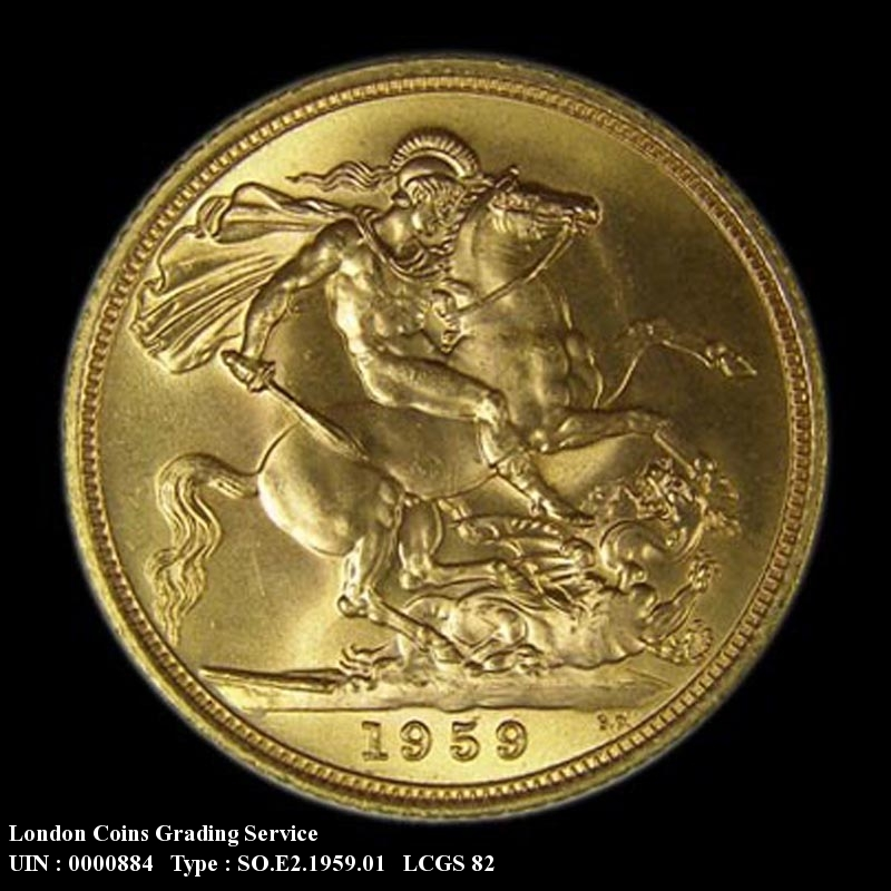 Gold Sovereign 1959 Elizabeth II. Standard type - Reverse