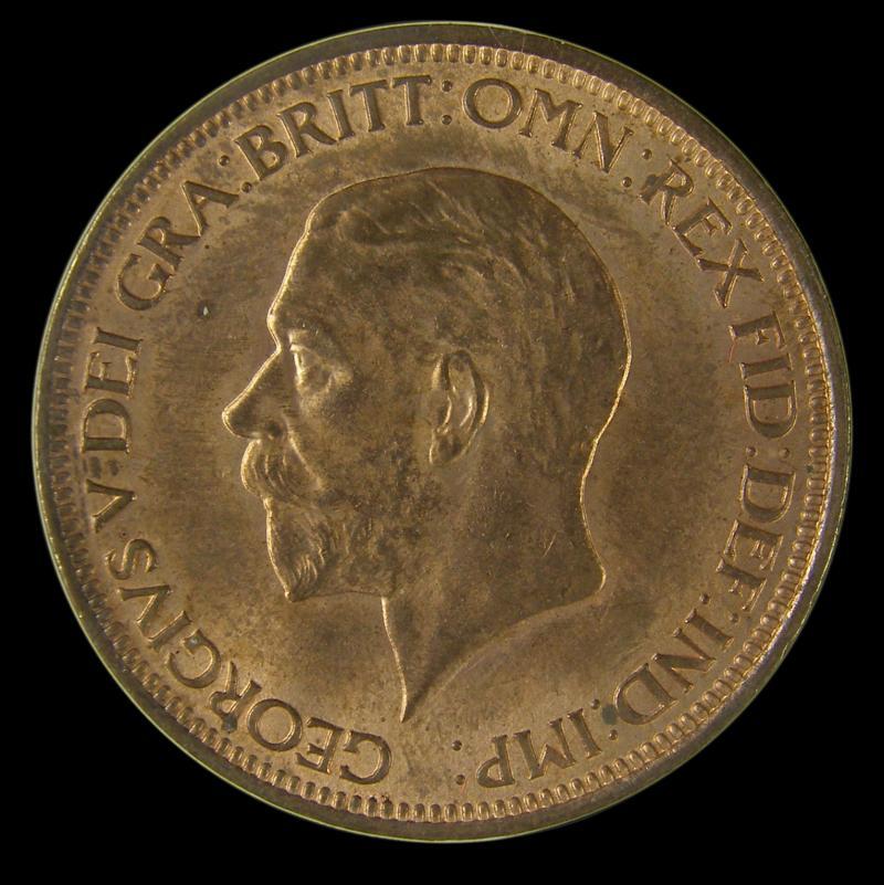 Halfpenny 1931 George V. Dies 3+B - Obverse