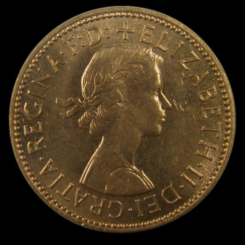 Halfpenny 1965 Elizabeth II. Dies 3+H - Obverse