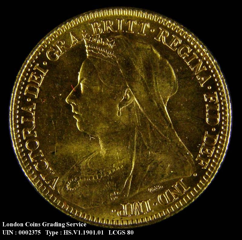 Gold ½ Sovereign 1901 Victoria. London Mint - Obverse