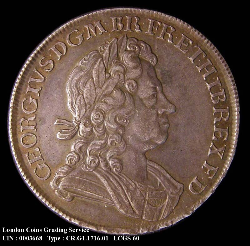 Crown 1716 George I. SECVNDO - Obverse