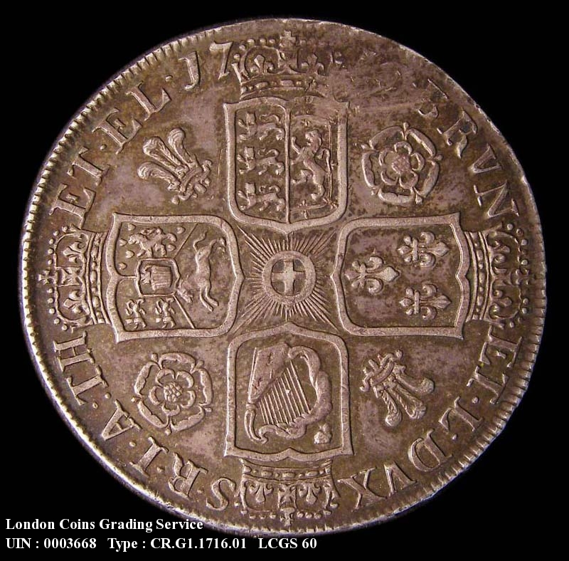 Crown 1716 George I. SECVNDO - Reverse