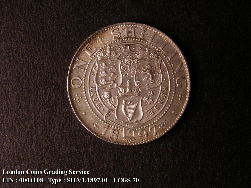 Shilling 1897 Victoria. Standard type - Reverse