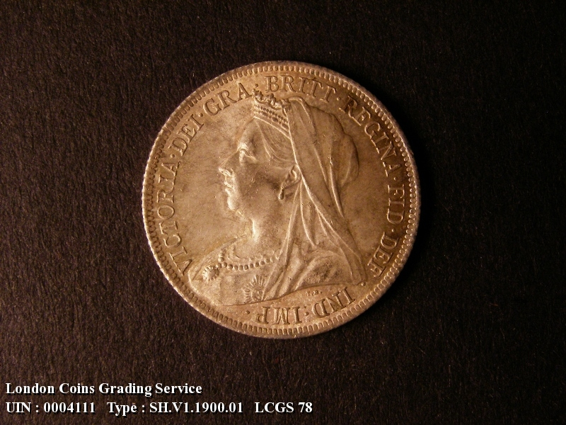 Shilling 1900 Victoria. Standard type - Obverse