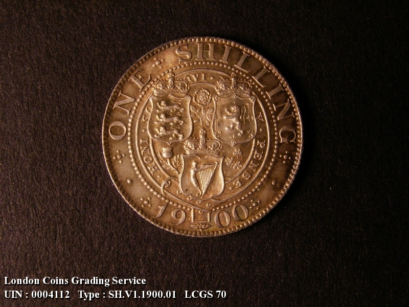 Shilling 1900 Victoria. Standard type - Reverse