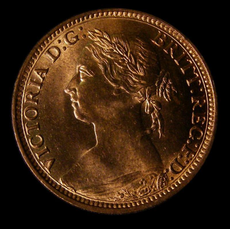 Farthing 1882 Victoria. Broken F in F:D: - Obverse