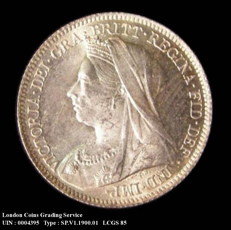 Sixpence 1900 Victoria. Standard type - Obverse