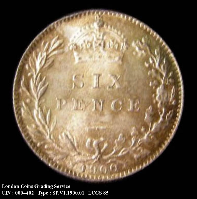 Sixpence 1900 Victoria. Standard type - Reverse