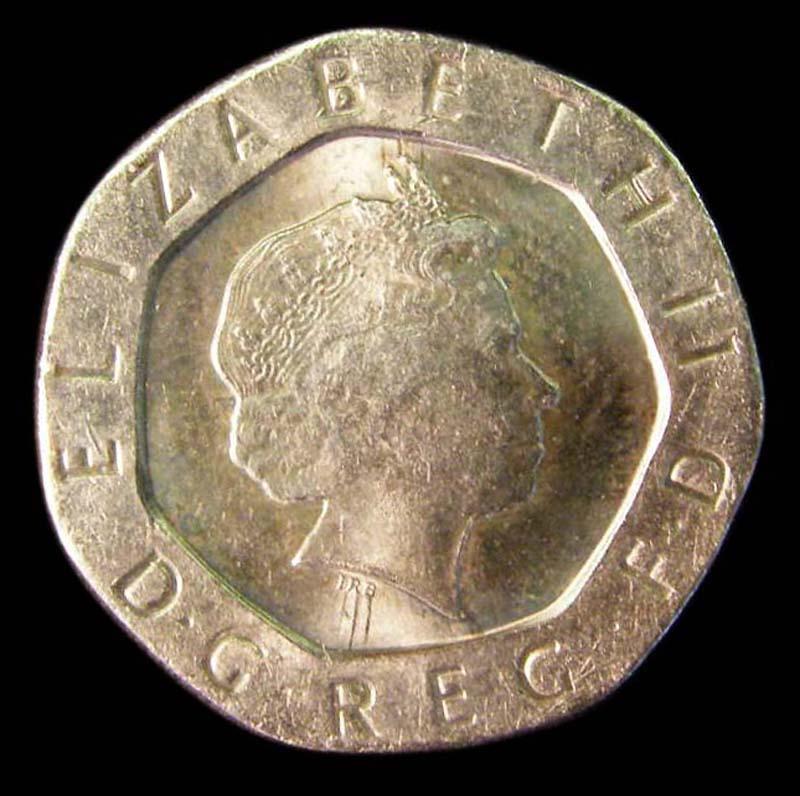 Decimal 20p 1998 Elizabeth II. - Obverse