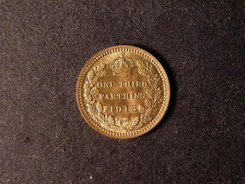 Third Farthing 1913 George V. Standard type - Reverse