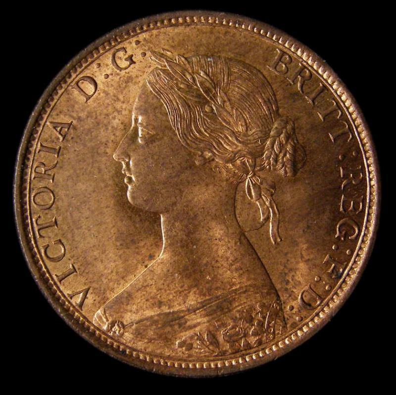 Halfpenny 1862 Victoria. dies 7+G - Obverse