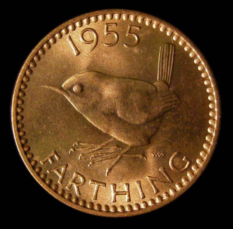 Farthing 1955 Elizabeth II. Dies 3+D - Reverse