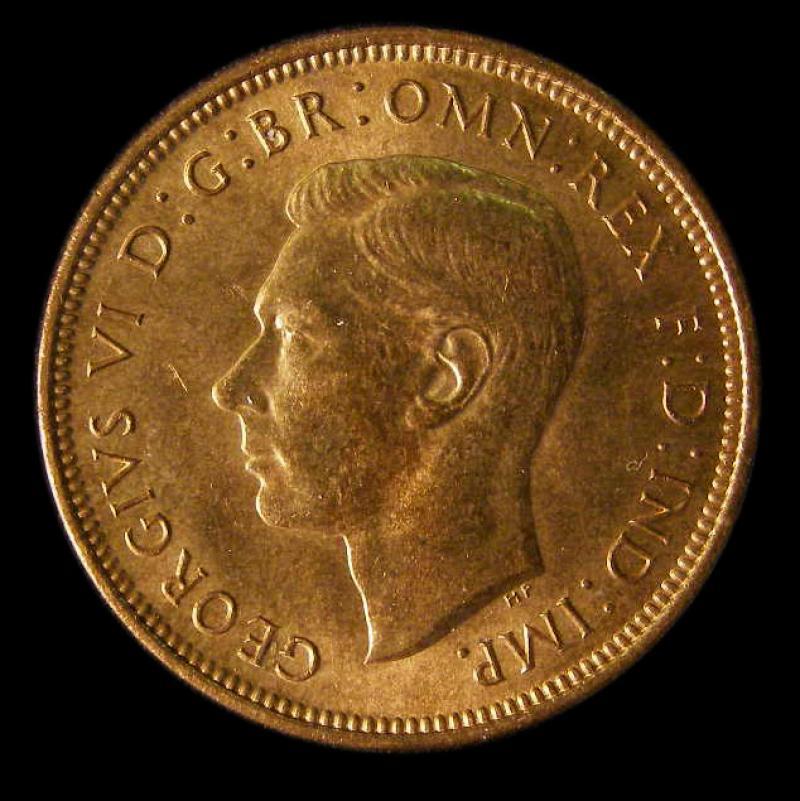 Halfpenny 1938 George VI. dies 1+B - Obverse