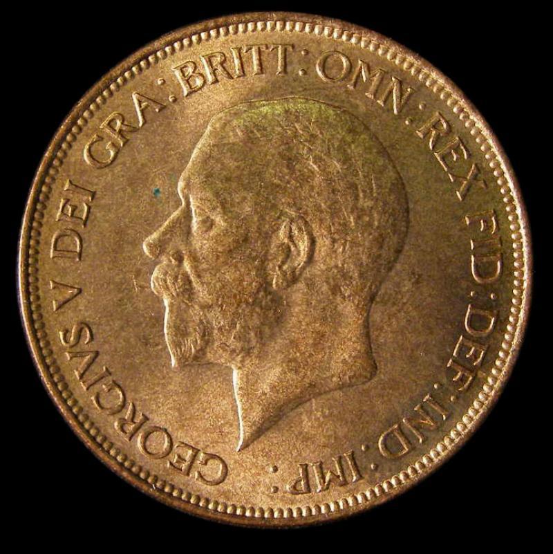 Penny 1930 George V. dies 5+C - Obverse