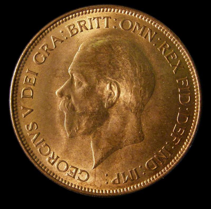 Penny 1932 George V. Dies 5+C - Obverse