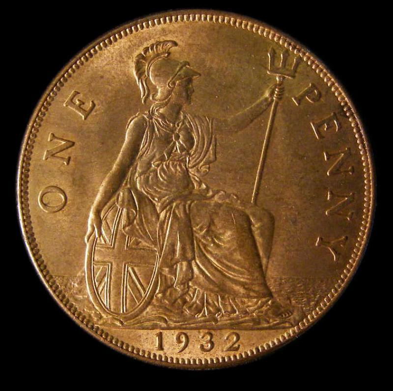 Penny 1932 George V. Dies 5+C - Reverse