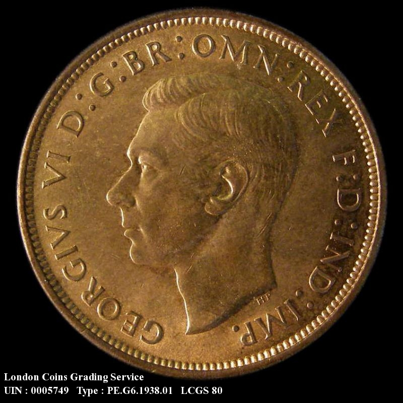 Penny 1938 George VI. Dies 2+B - Obverse