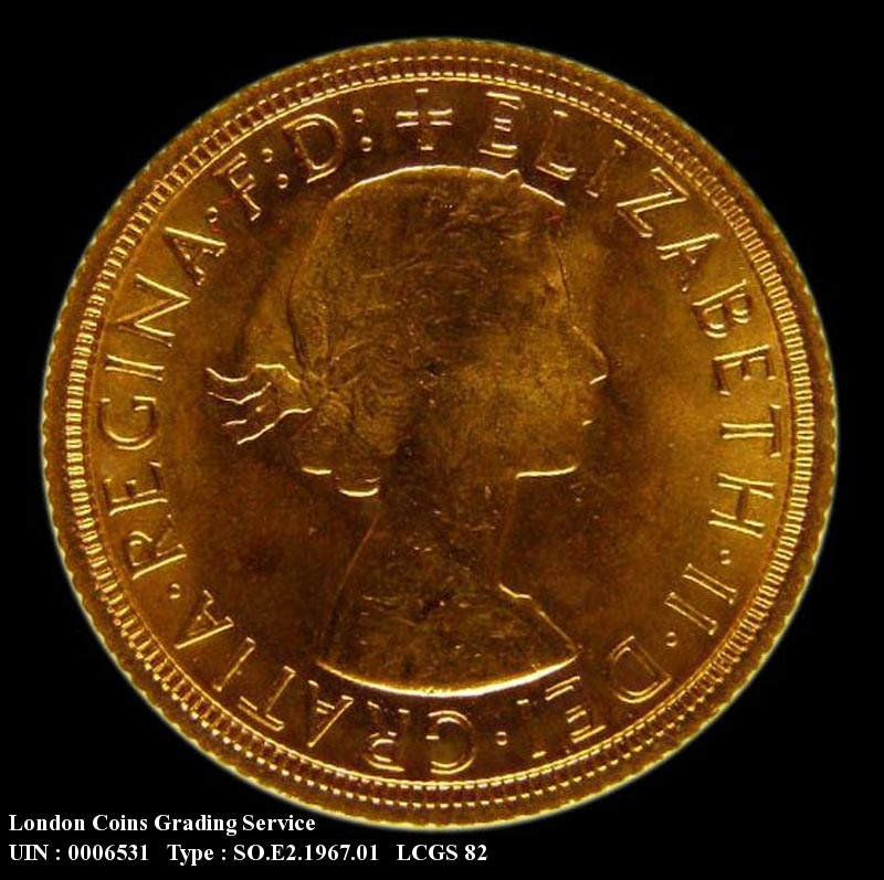 Gold Sovereign 1967 Elizabeth II. Standard type - Obverse