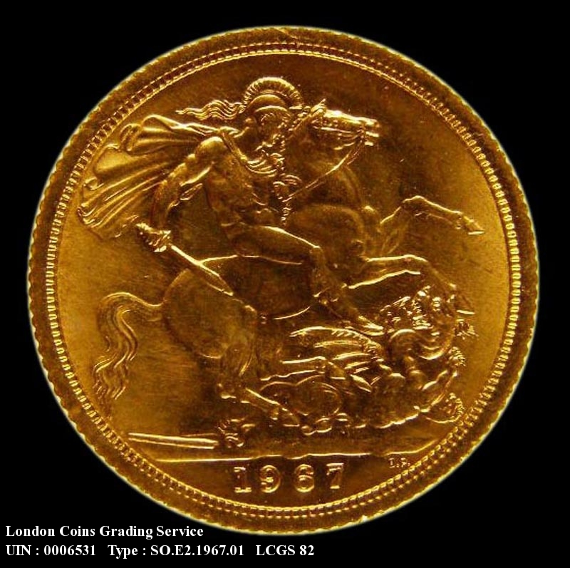 Gold Sovereign 1967 Elizabeth II. Standard type - Reverse
