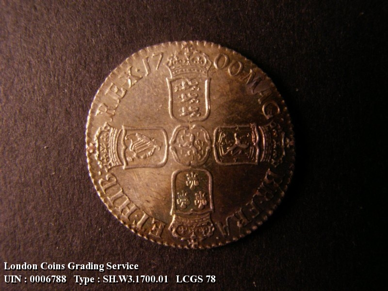 Shilling 1700 William III. Fifth Bust - Reverse