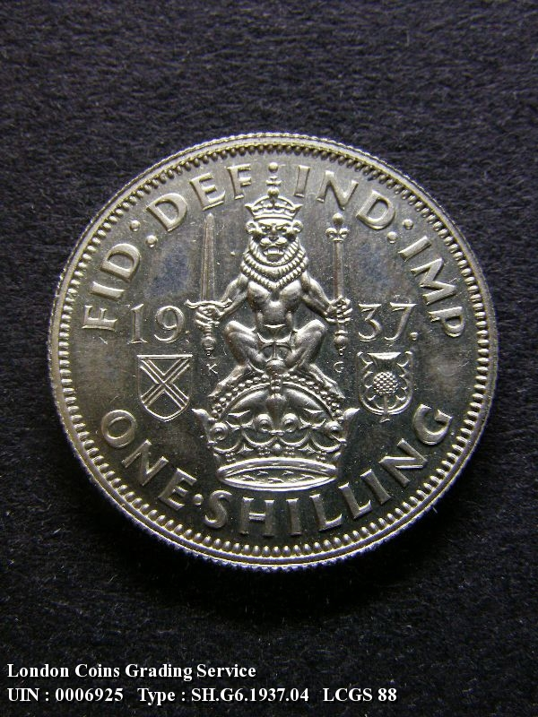 Shilling 1937 George VI. Scottish Proof - Reverse