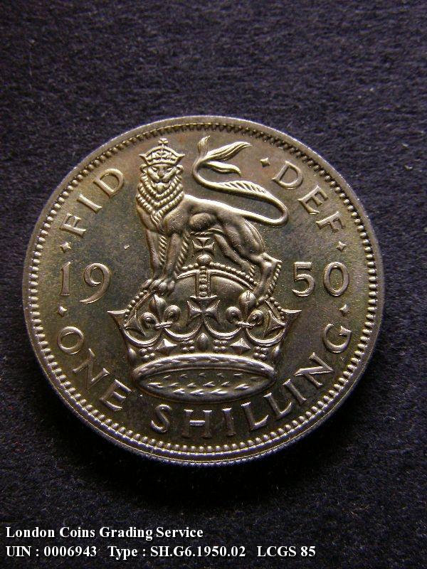 Shilling 1950 George VI. English. Proof - Reverse