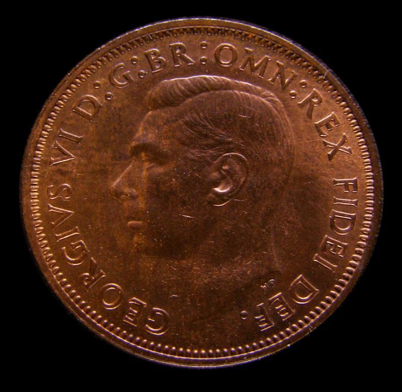 Halfpenny 1949 George VI. Dies 2+O - Obverse