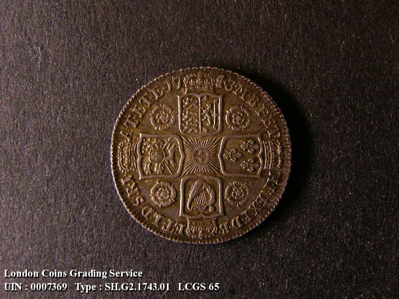 Shilling 1743 George II. Roses - Reverse
