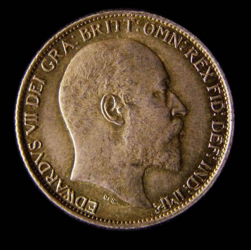 Sixpence 1902 Edward VII. Standard type - Obverse