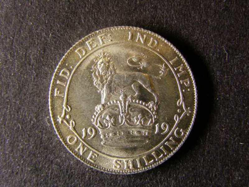 Shilling 1919 George V. Standard type - Reverse