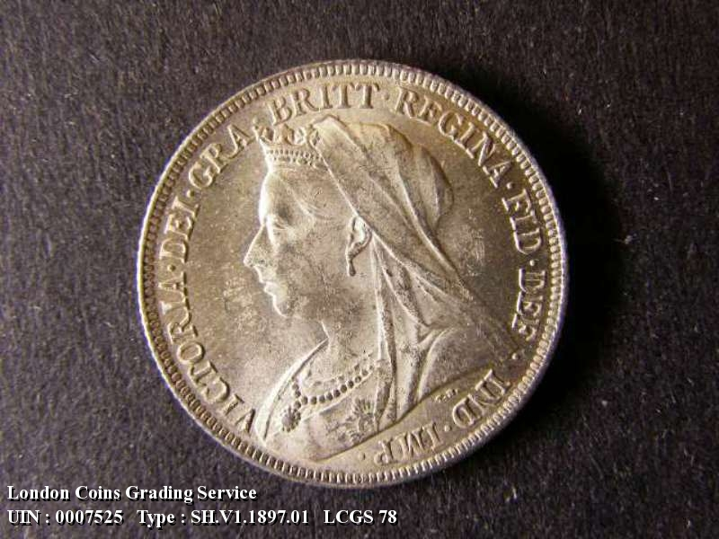Shilling 1897 Victoria. Standard type - Obverse