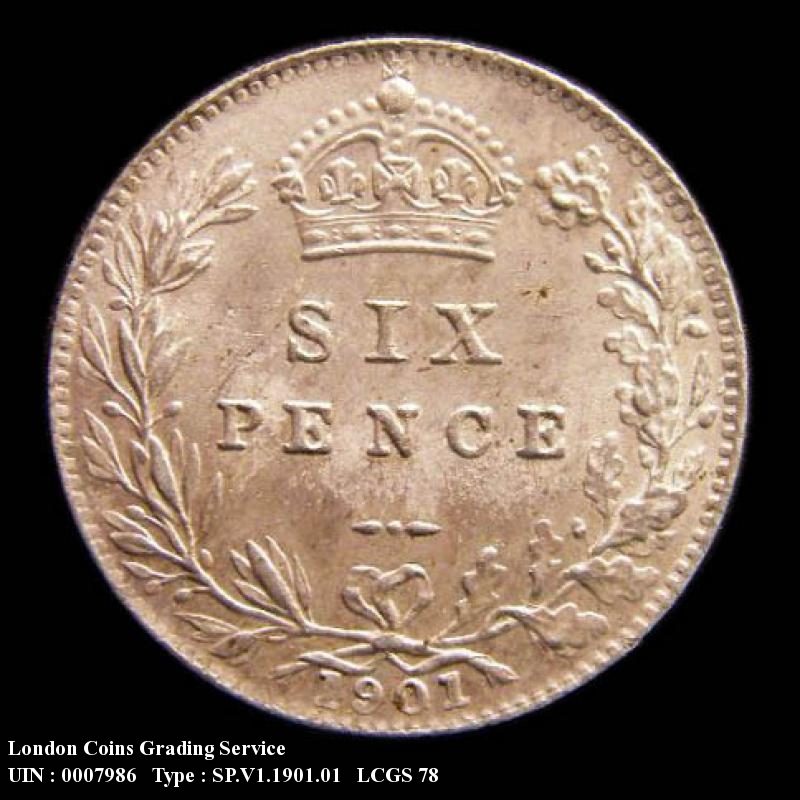 Sixpence 1901 Victoria. Standard type - Reverse