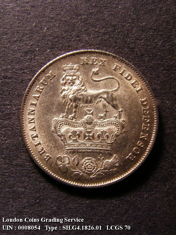 Shilling 1826 George IV. Standard type - Reverse