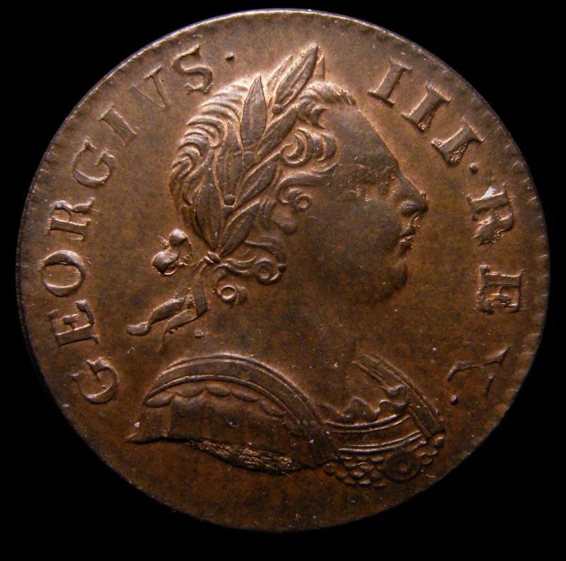 Halfpenny 1770 George III. Reverse A - Obverse