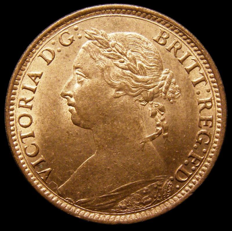 Farthing 1886 Victoria. Dies 7+F - Obverse
